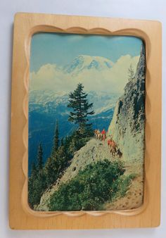 Mt Rainier in Clouds from Pinnacle Peak on by CheekyBirdy on Etsy