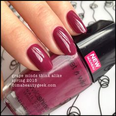 Wet n Wild Grape Minds Think Alike - imabeautygeek.com for mega-swatchin' of the new 2015 shades!