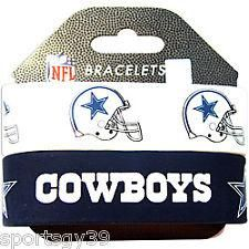 DALLAS COWBOYS SET OF 2 SILICONE RUBBER BRACELETS NFL WRIST BANDS NEW