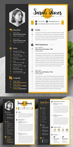 23 Creative Resume Templates with Cover Letters | Design | Graphic Design Junction