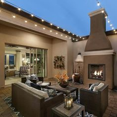 Impressive outdoor fireplace patio only in indoneso design Patio Design, Exterior Design, House Design, Garden Design, Outdoor Rooms, Outdoor Living, Design Jardin, Design Balcon, Inspiration Design