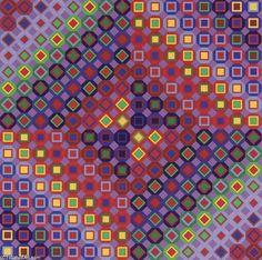 Victor Vasarely - Folkokta - 1973 // Geometric Art