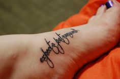 'Expecto Patronum' tattoo - I love everything about this one!