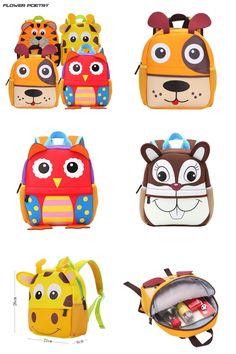 [Visit to Buy] Children School Bag Cute Animal Design Backpack Toddler Kid School Bags Kindergarten Cartoon Bag Boy  Girl Mochila Infantil #Advertisement