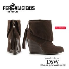 Fantastic & right on trend with tassel accents & cuffed look, the Fergalicious by Fergie CONDUCT Booties will elevate your style from DSW Designer Shoe Warehouse!