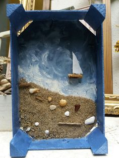 Best 12 Seashells and Wood Boxes for Sailors Valentines and Shell Crafts – SkillOfKing. Seashell Art, Seashell Crafts, Seashell Ornaments, Seashell Picture Frames, Seashell Projects, Sea Crafts, Sea Glass Art, Frame Crafts, Driftwood Art