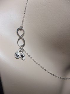 Infinity necklace  Sterling silver  by QueenMeJewelryLLC on Etsy, $32.99