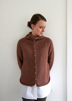 Top-Down Turtleneck Cardigan, Now in Baby Fawn