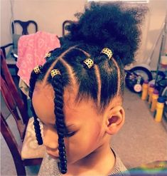 Cute Toddler Hairstyles, Kids Curly Hairstyles, Cute Little Girl Hairstyles, Little Girl Braids, Natural Hairstyles For Kids, Girls Braids, Mixed Baby Hairstyles, Lil Girl Braid Styles, Kids Natural Hair