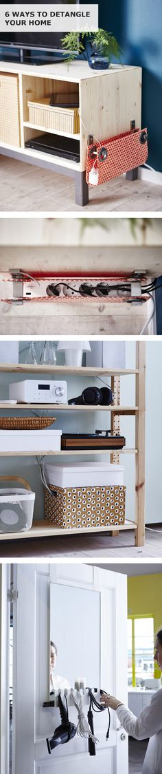 It's time to detangle your home! Click for six IKEA tips to keep your power cables organized and tangle-free for good. Interior design by Martina Andersson and Helene Holmstedt. Digital design by Cecilia Englund. Copywriting by James Rynd. Photography by Sandra Werud and Johan Månsson. Editing by Linda Harkell.