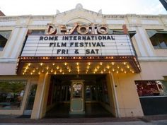 The DeSoto Theater in Rome, GA - The 1st theater in the southeast U.S. to play movies with sound.