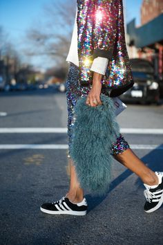 sequins and Adidas