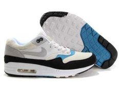 UK Market - Nike Air Max 1 Mens Ivory Black Blue Trainers