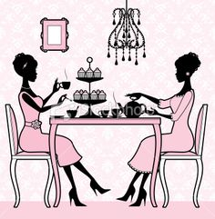 Chic Pink and Black Tea Time Counted Cross Stitch Pattern High Tea Invitations, Tea Etiquette, 2. Stock, Ladies Who Lunch, Fun Cup, Tea Art, My Cup Of Tea, Drinking Tea, Afternoon Tea