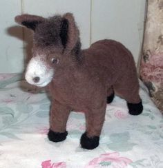 needle felted OOAK donkey by KathysCraftShop on Etsy