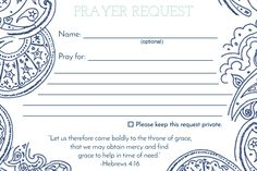 Prayer Request Card – MOPS Leaders