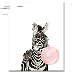 Giraffe Bubble Gum Wall Art Canvas Poster and Print Canvas Painting Decorative Picture Nursery Living Room Home Decor Canvas Only No Frames Home Decor Sale, Grey Home Decor, Rooms Home Decor, Home Decor Trends, Canvas Poster, Canvas Wall Art, Wall Art Prints, Canvas Prints, Painting Prints