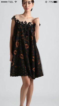 Model Dress Batik, Batik Dress, Batik Kebaya, Dress Brokat, Blouse Batik, Batik Fashion, Dress Cuts, Mode Vintage, African Dress
