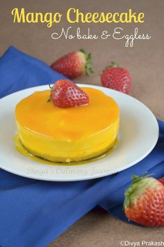 Mini Mango cheese Cake- Eggless & No baking required