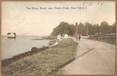 1908 postmarked postcard Pirie's Point, Shore Road, Sea Cliff 1 cent stamp