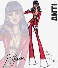 Hayden Williams Fashion Illustrations   Rihanna ANTI collection by Hayden Williams: Look 4