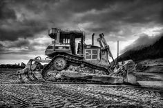Caterpillar Dozer - Black and White