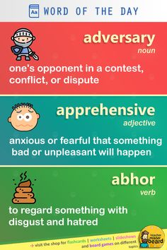 Expand your English vocabulary with both essential and non-essential new words (meaning/definition included) 🧔