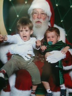 Scared of Santa: Hilarious Pics of Kids Bawling Because of St. Nick-Click through to view 15 funny photos of toddlers and babies scared of Santa.
