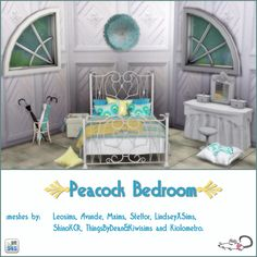 Sims 4 CC's - The Best: Peacock Bedroom by loveratsims4