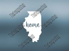 Illinois Home State Svg Dxf Pdf Jpg Cut File  by TheDesignsShop