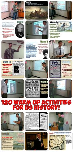 A complete school year's worth (120 slides!) of daily warm up or bell-ringer questions for American History! The slides start with Jamestown and the early colonies and continue through to 9/11, the Patriot Act, and even President Obama!