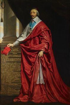 Philippe de Champaigne (1602-75) portrait of Armand, Cardinal Richelieu (1585-1642) date circa 1625, Royal Collection, UK