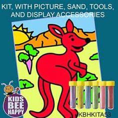 For prices visit www.acornkids.com/learningfun  janavdmerwe8@gmail.com Acorn Kids, Sand Art, Bee, Happy, Honey Bees, Bees, Ser Feliz, Being Happy