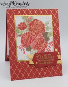 Amy Koenders, Independent Stampin' Up! Demonstrator in Mendham, New Jersey.Let's make some cards! Christmas Rose, Christmas Time Is Here, Stampin Up Christmas, Christmas Medley, Christmas Greetings, Christmas Holiday, Christmas Ideas, Company Christmas Cards, Christmas Catalogs