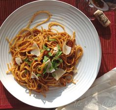 Spaghetti all'Amatriciana from Saveur Magazine, July 2012 | Taking On Magazines One Recipe at a Time