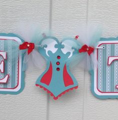 Bachelorette banner, bride to be banner, handmade banner, teal, white and red, etsy