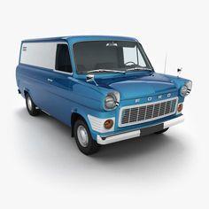 Ford Transit Model available on Turbo Squid, the world's leading provider of digital models for visualization, films, television, and games. Vintage Vans, Vintage Trucks, Old Trucks, Bedford Van, Bedford Truck, Ford Classic Cars, Classic Chevy Trucks, Ford Transit, Old School Vans