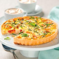 Caprese Quiche Recipe - perfect for Mother's Day brunch.