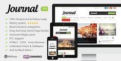 Journal Clean, Responsive WP Magazine (News / Editorial)