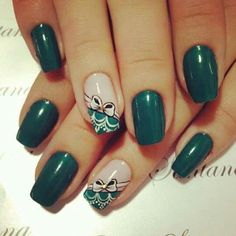 Love the color and the Fabulous Nails, Perfect Nails, Gorgeous Nails, Fancy Nails, Cute Nails, Pretty Nails, Green Nails, Square Nails, Stylish Nails