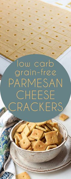 Healthy low carb Parmesan Cheese Crackers. Keto LCHF grain-free THM Recipe