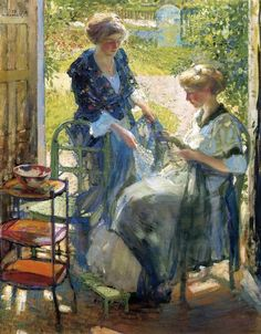 The Garden Room, Giverny by  Richard Edward Miller (USA)