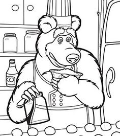 29 Best Masha And Bear Coloring Images Masha The Bear Print