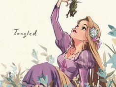 Rapunzel from Tangled. Disney Magic, Film Disney, Disney Princess Art, Disney Fan Art, Disney Love, Disney Cartoons, Humour Disney, Disney Rapunzel, Disney And Dreamworks