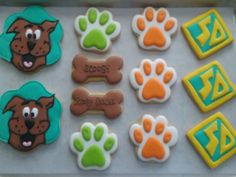 Scooby Doo Birthday cookies 5th Birthday Party Ideas, Third Birthday, Party Themes, Scooby Doo Birthday Cake, Scooby Doo Dog, Mystery Parties, Birthday Cookies, Chucky, Cookie Decorating