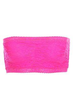 lace pink bandeau