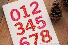 Christmas Watercolor Numbers @creativework247
