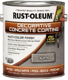 Concrete floor stain can dramatically change the look of your porch or patio floor. Get ideas for staining concrete floors, patterns and products for your front porch and more. Easily create a whole new look by staining your concrete porch or walk ways. Painted Concrete Porch, Painted Front Porches, Concrete Front Porch, Diy Concrete Patio, Painting Concrete, Stained Concrete, Concrete Patio Makeover Ideas, Decorative Concrete, Rustoleum Concrete Stain