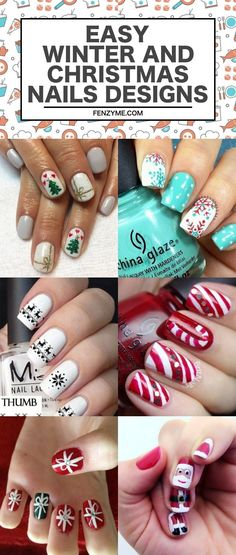 Christmas Nails Designs || Xmas Nail Art Designs || Winter Nails Designs || Winter Nail art Designs || 42 Easy Winter and Christmas Nails Designs 2017