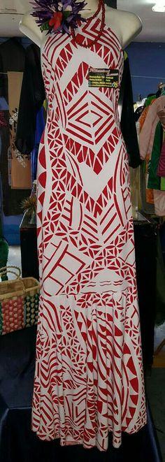 Samoa Island Wear, Island Outfit, Samoan Dress, Fashion Show, Fashion Outfits, Fashion Trends, Luau Dress, Tropical Dress, Black And White Illustration